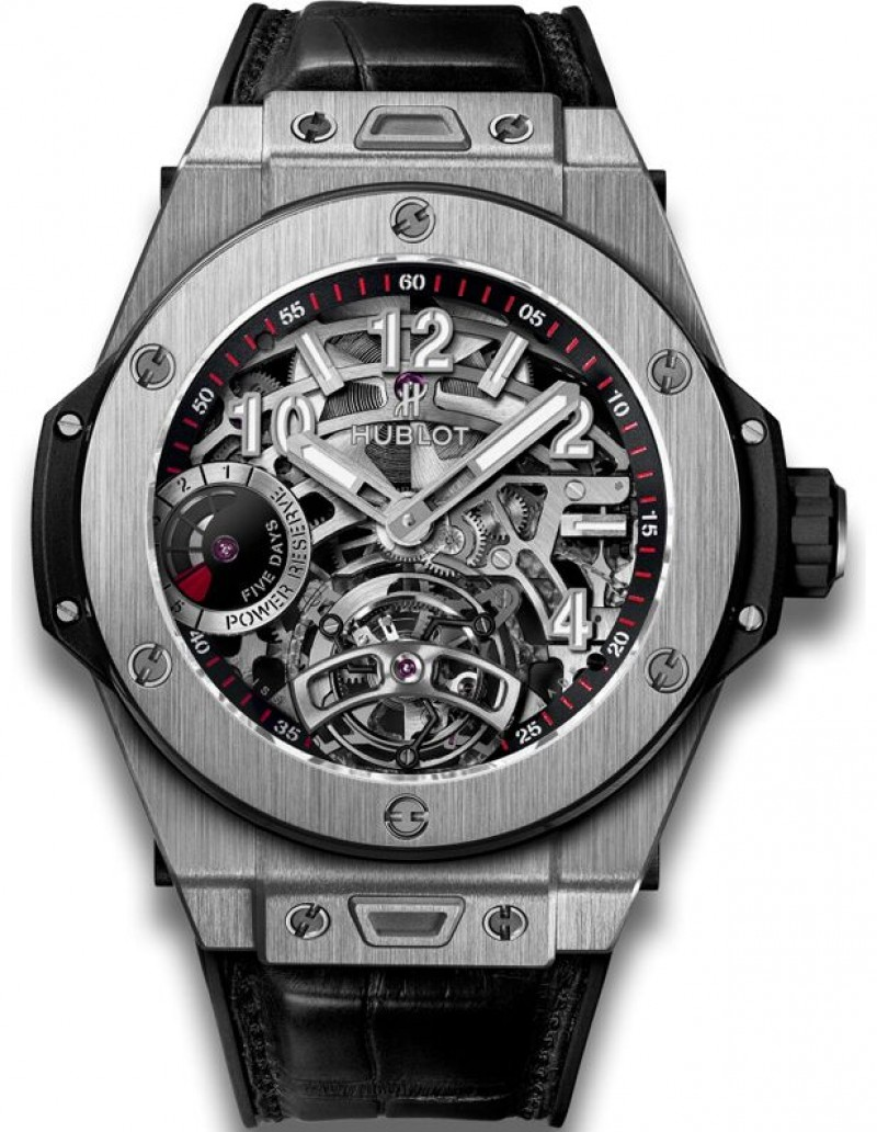 Fake Hublot Big Bang Tourbillon Power Reserve 5 Days Titanium 45mm Watch 405.NX.0137.LR