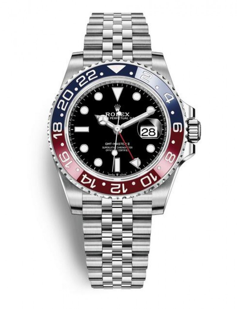 Replica Rolex GMT-Master II Steel 40 mm 126710BLRO-0001