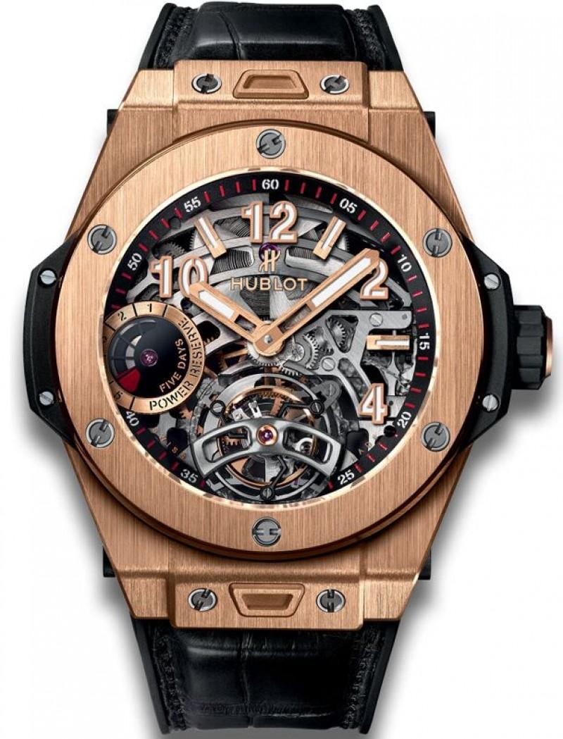 Fake Hublot Big Bang Tourbillon Power Reserve 5 Days King Gold 45mm Watch 405.OX.0138.LR
