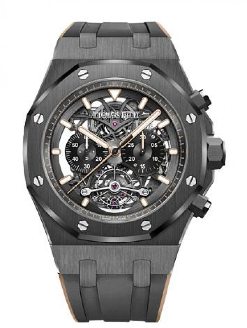 Fake Audemars Piguet Royal Oak Tourbillon Chronograph Skeleton 26343CE.OO.D002CA.04