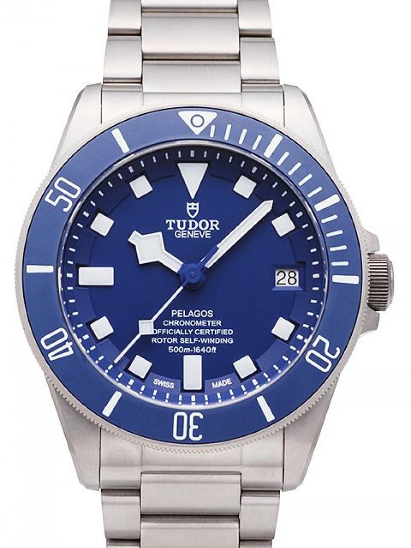 Fake Tudor Pelagos Blue Dial Titanium Strap Mens Watch