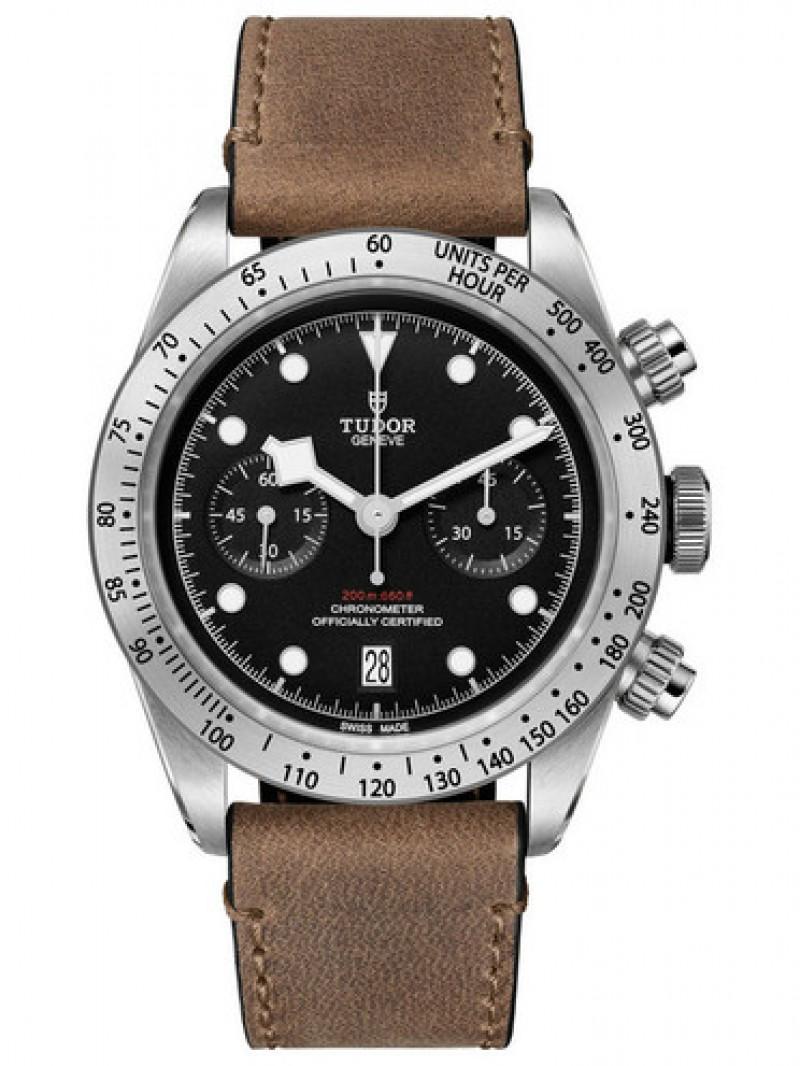 Fake Tudor Heritage Black Bay Chronograph 41mm Watch 79350-0002