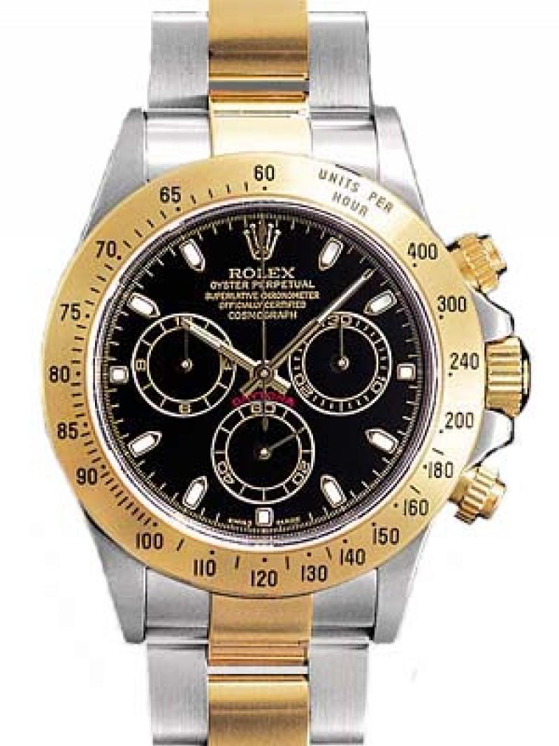 Fake Rolex Daytona Black Index Dial Mens Watch 116523BKSO
