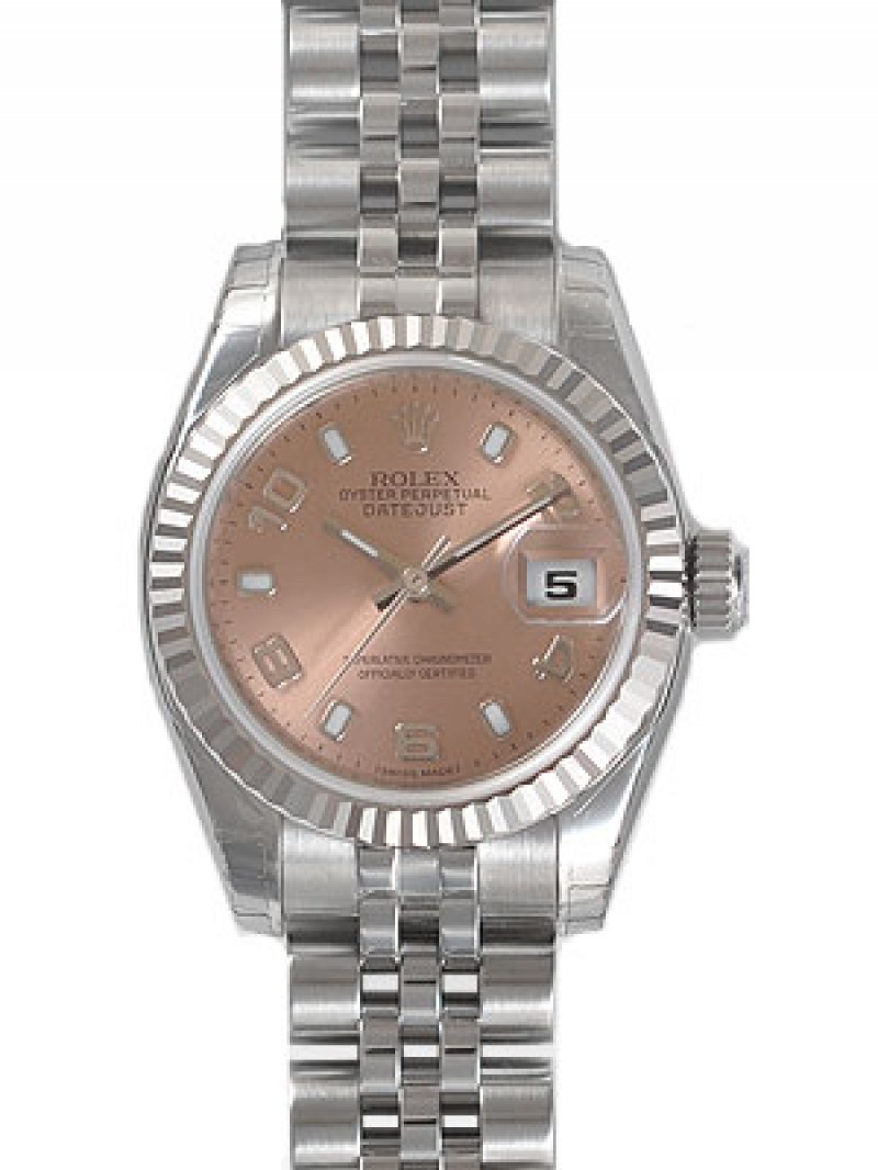 Fake Rolex Lady Datejust White Gold Watch 179174PSAJ
