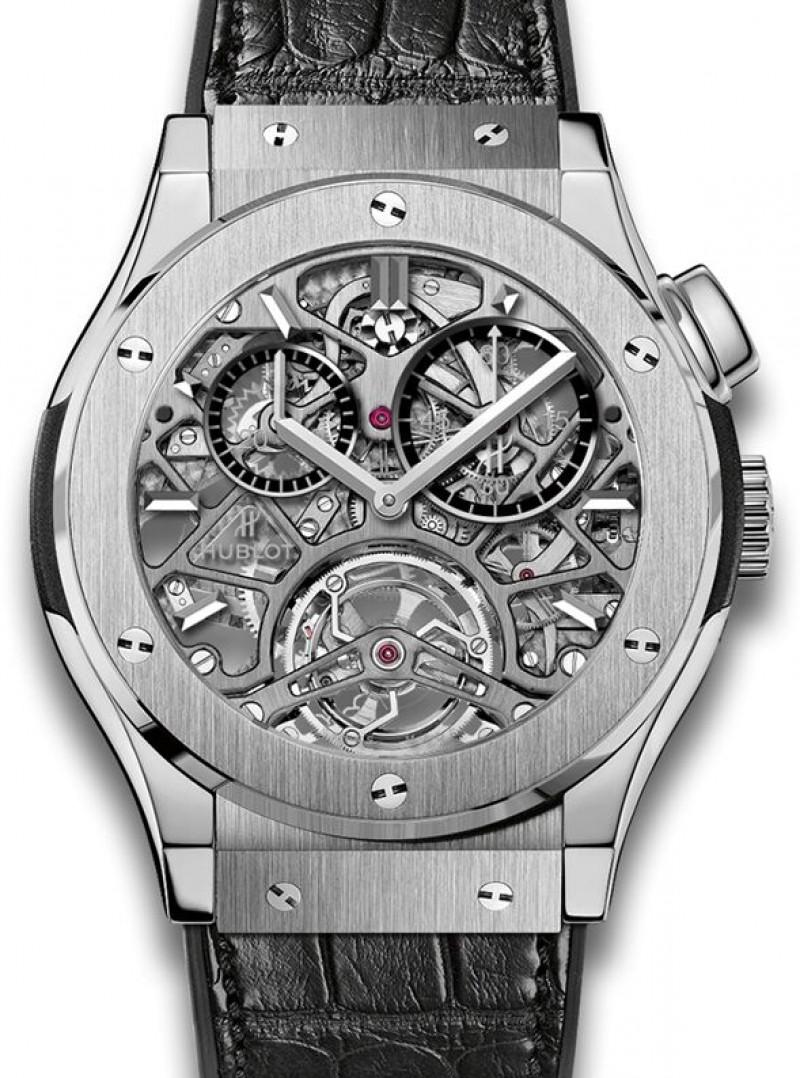 Fake Hublot Classic Fusion Tourbillon Skeleton Titanium Watch 506.NX.0170.LR