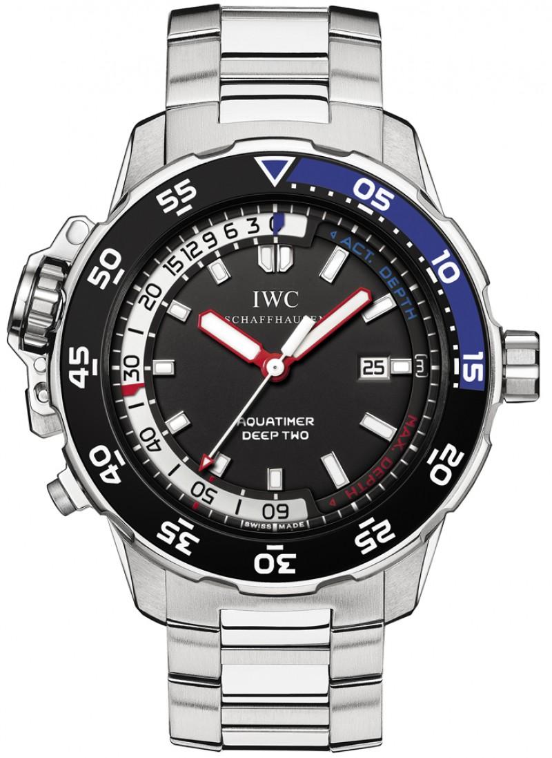 Fake IWC Aquatimer Deep Two Black Dial Mens Watch IW354701