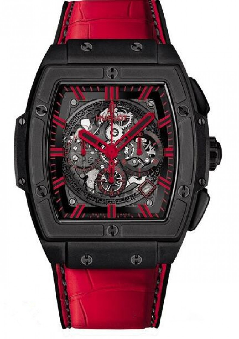 Fake Hublot Spirit Of Big Bang All Black Red Watch 601.CG.0190.LR
