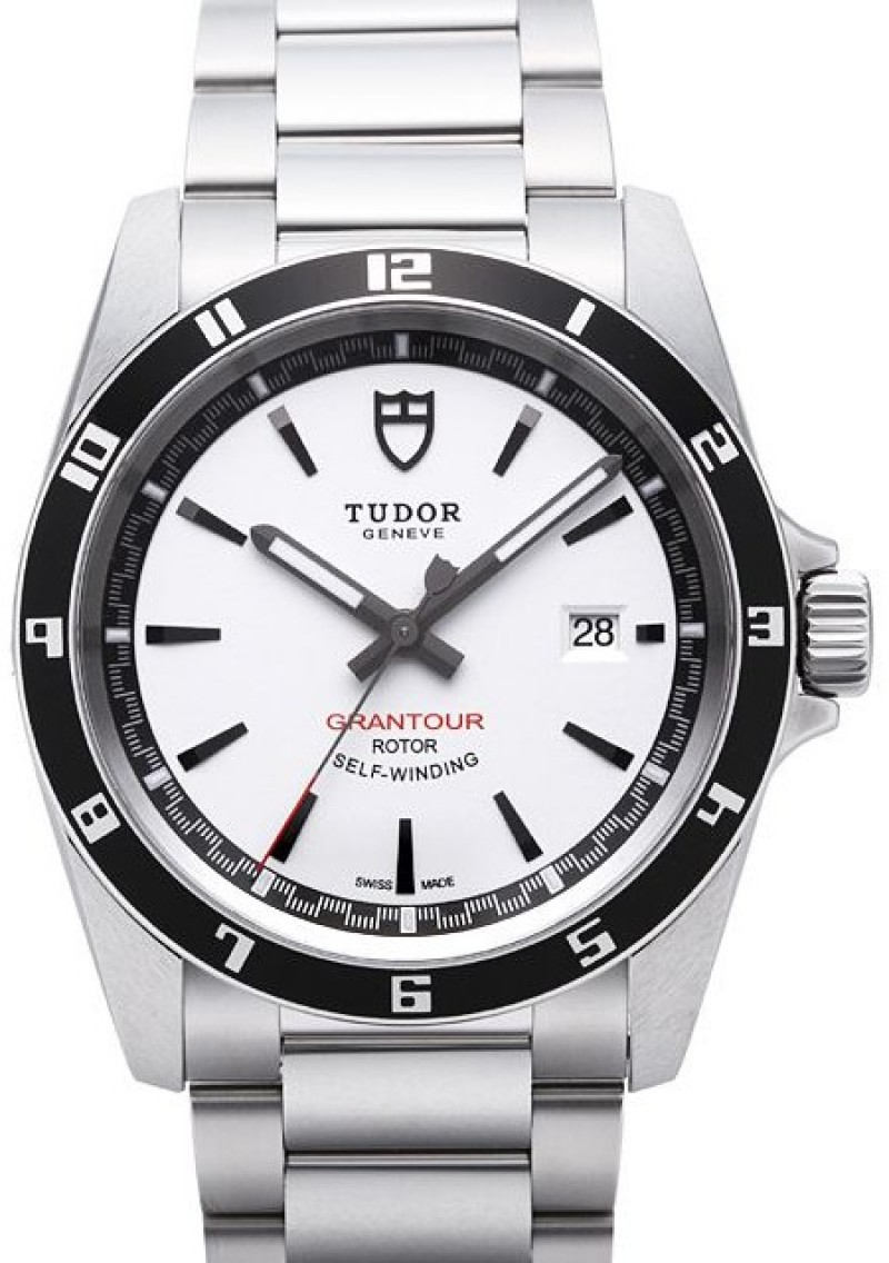 Fake Tudor Grantour Date Bay White Dial Steel Strap Mens Watch