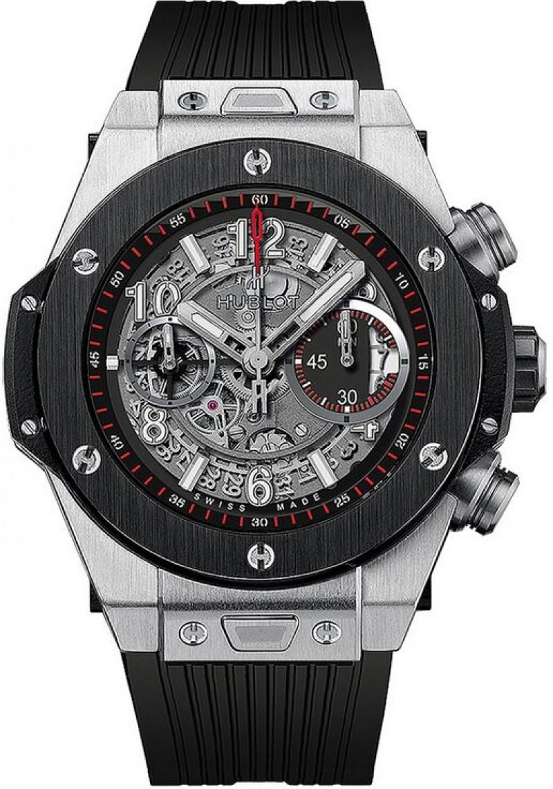 Fake Hublot Big Bang Unico Titanium Ceramic Skeletal Dial Mens Watch 411.NM.1170.NM