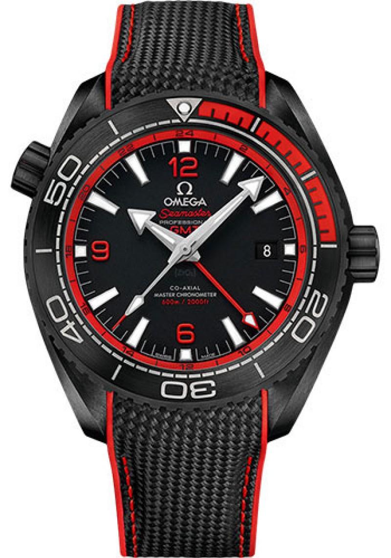 Fake Omega Seamaster Planet Ocean 600M Master Chronometer GMT Deep Black Red 215.92.46.22.01.003