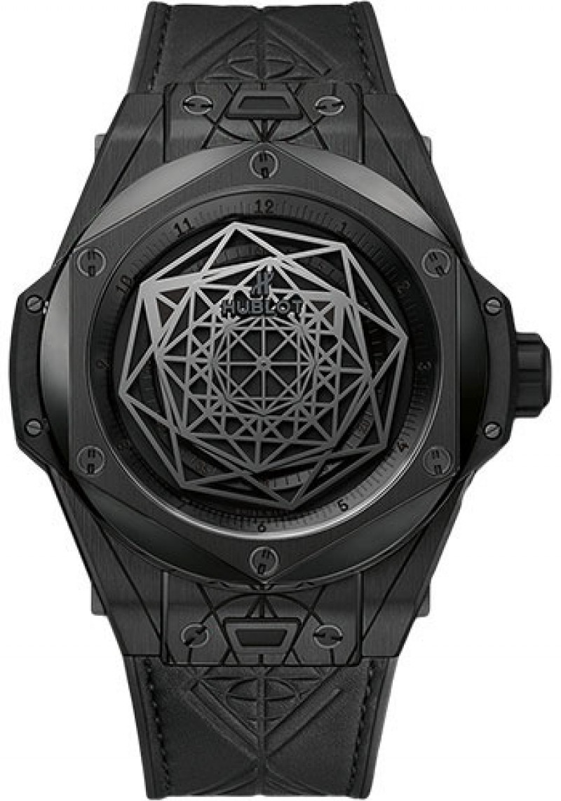 Fake Hublot Big Bang Unico Sang Bleu All Black 45mm 415.CX.1114.VR.MXM17