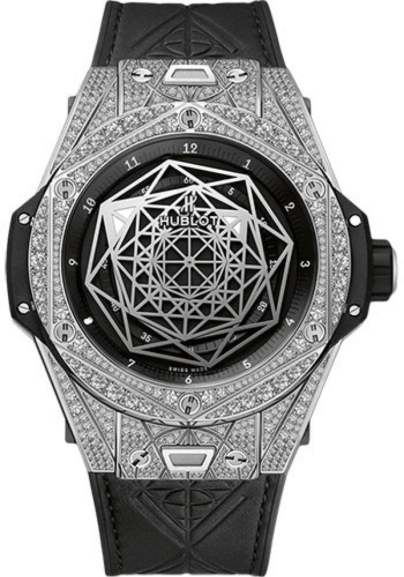Fake Hublot Big Bang Unico Sang Bleu Titanium Pavé 45mm 415.NX.1112.VR.1704