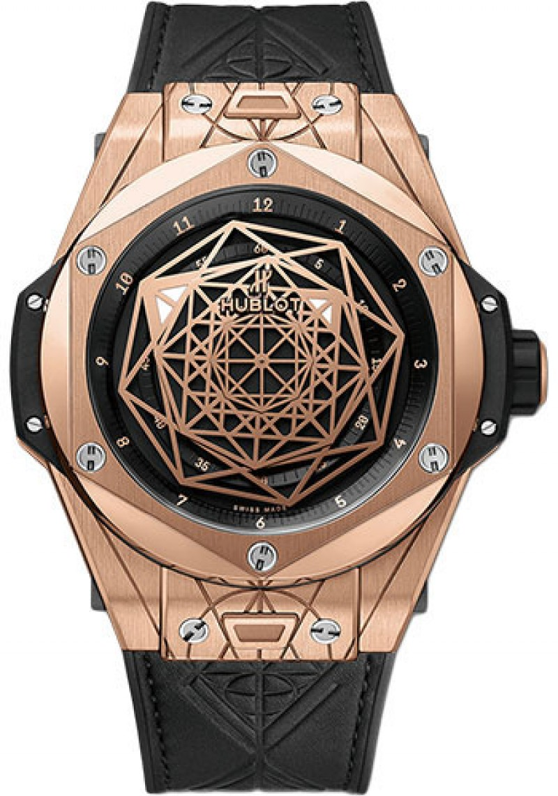 Fake Hublot Big Bang Unico Sang Bleu King Gold Watch 45mm 415.OX.1118.VR.MXM17