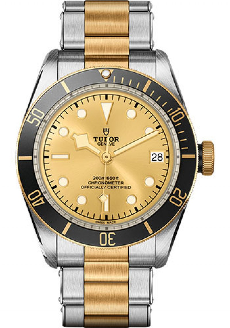 Replica Tudor Heritage Black Bay Steel and Gold M79733N-0004