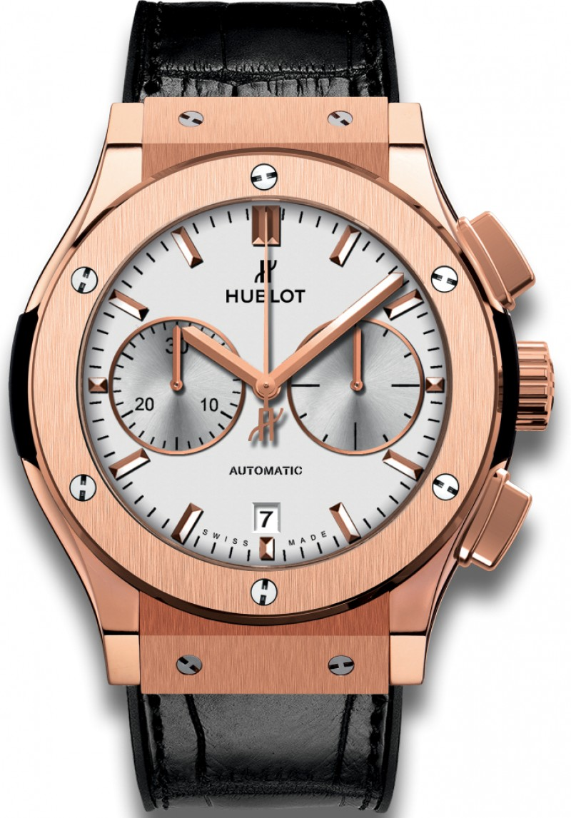 Fake Hublot Classic Fusion Chronograph King Gold Opalin 45mm 521.OX.2611.LR