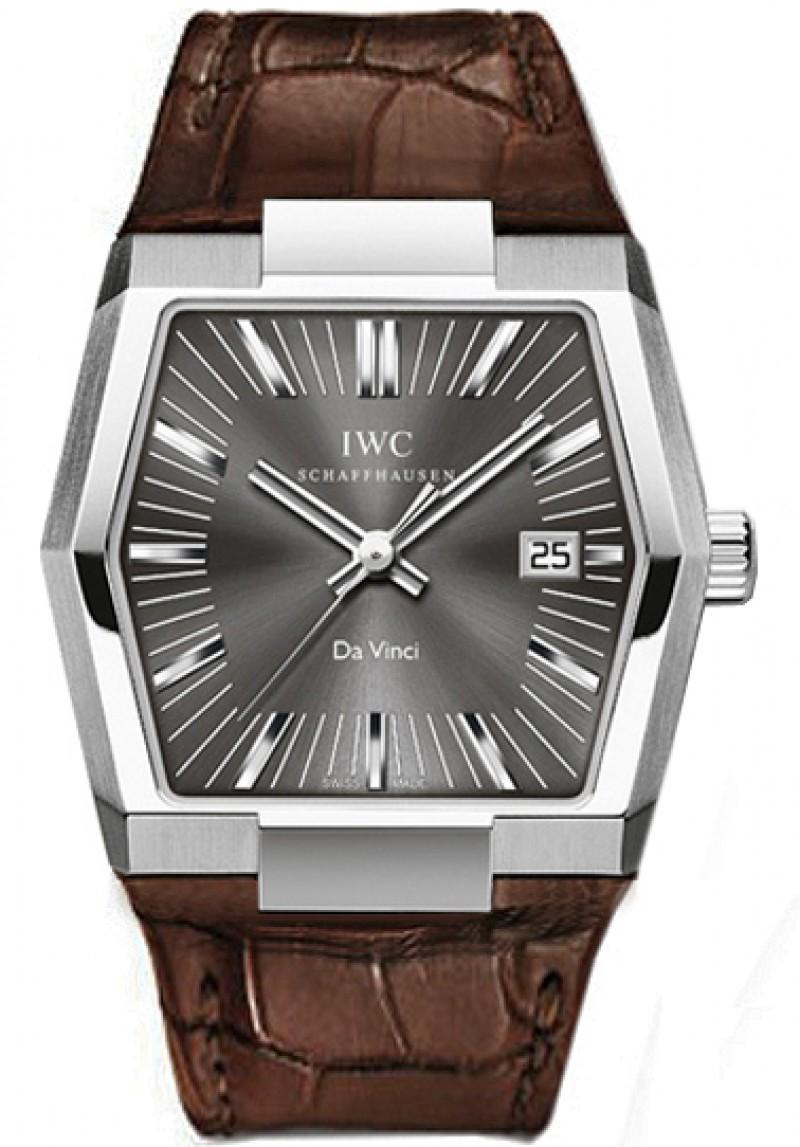 Fake IWC Vintage Da Vinci Grey Dial Mens Watch IW546104