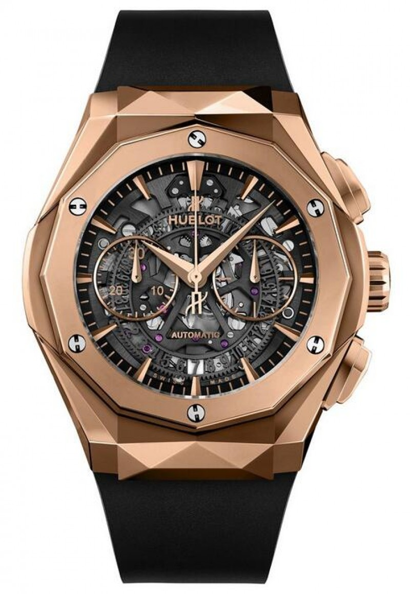 Fake Hublot Classic Fusion Aerofusion Chronograph Orlinski King Gold 45mm 525.OX.0180.RX.ORL18