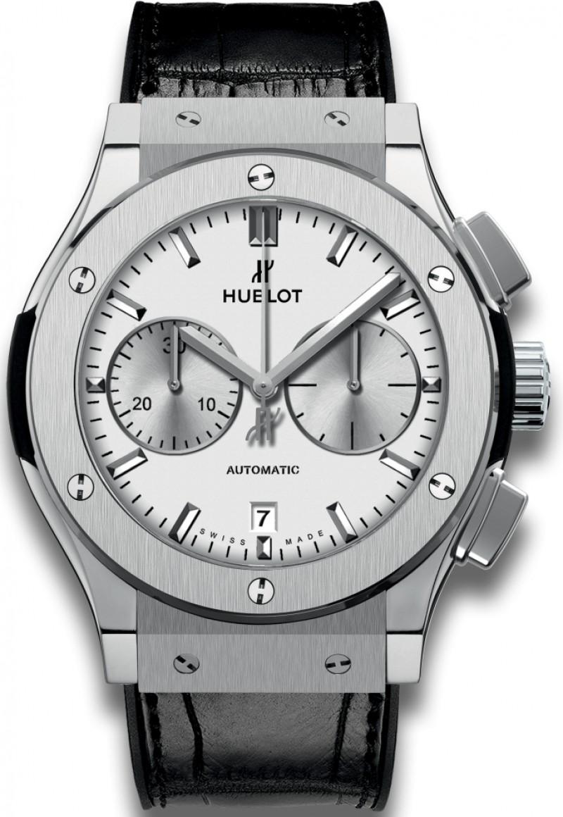 Fake Hublot Classic Fusion Chronograph Titanium Opalin 45mm 521.NX.2611.LR