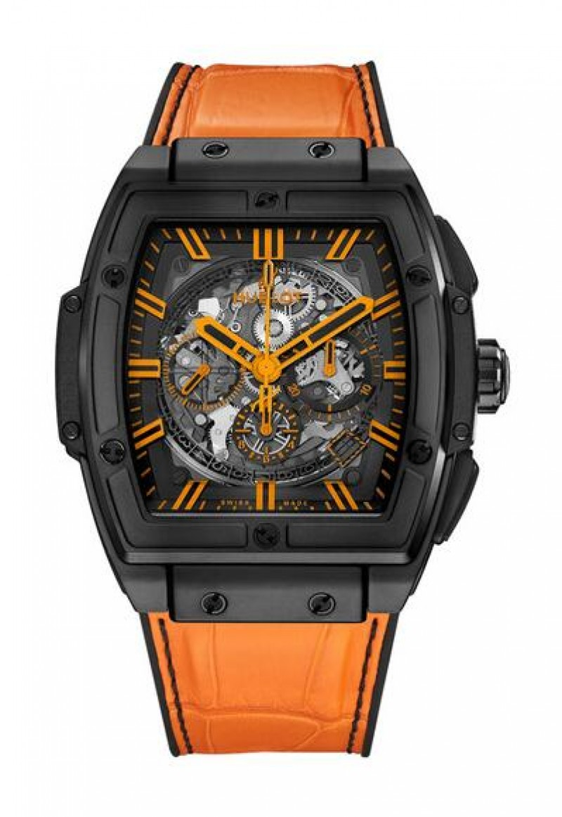 Fake Hublot Spirit Of Big Bang All Black Orange Watch 601.CO.0190.LR