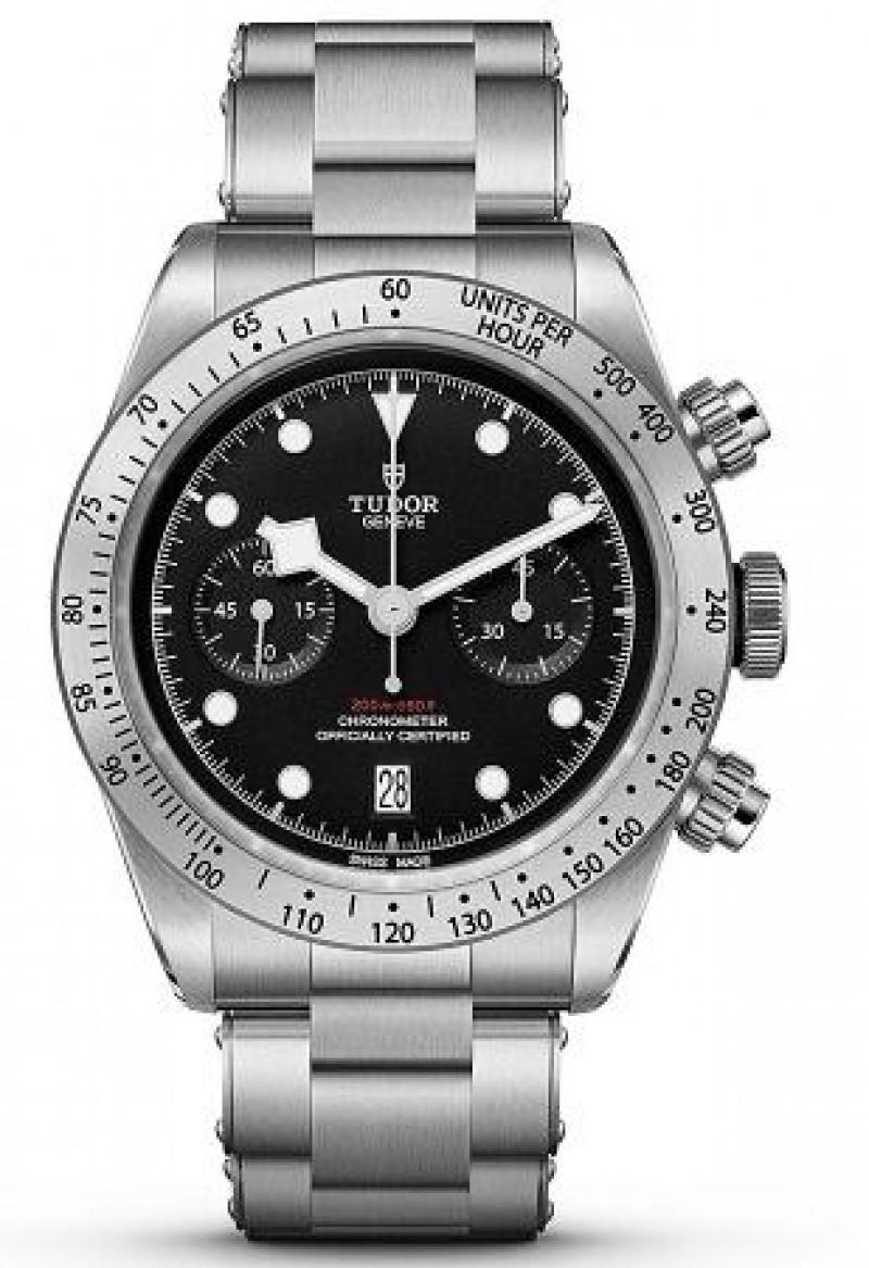 Fake Tudor Heritage Black Bay Chronograph 41mm Watch 79350-0001