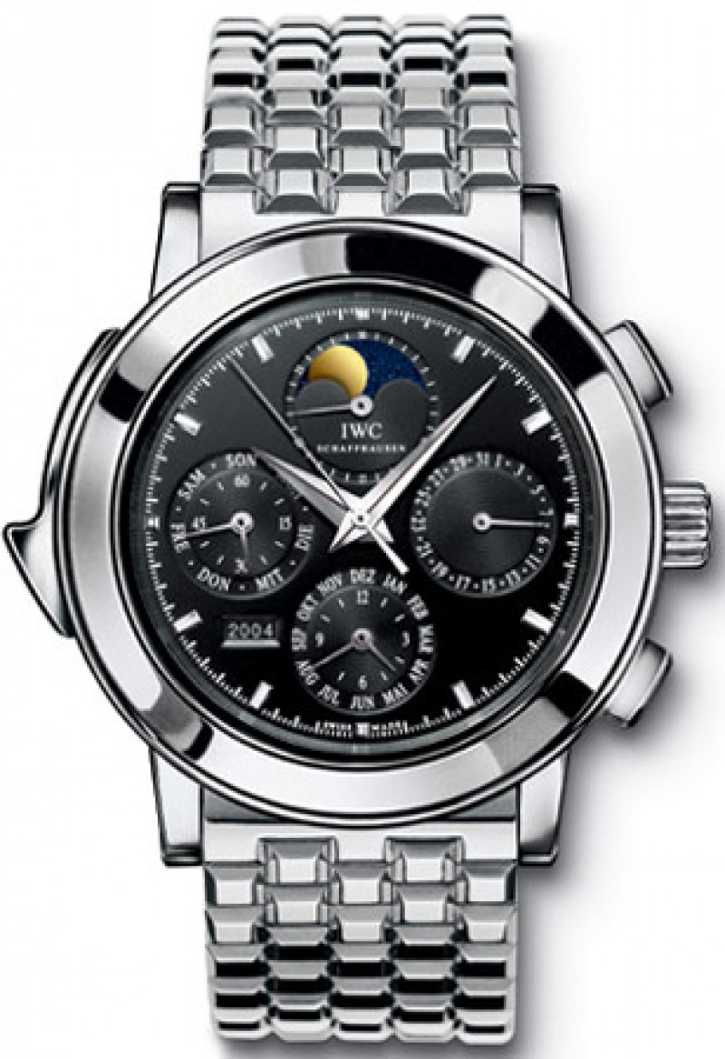 Fake IWC Grande Complication Black Dial Platinum Automatic Mens Watch IW927020