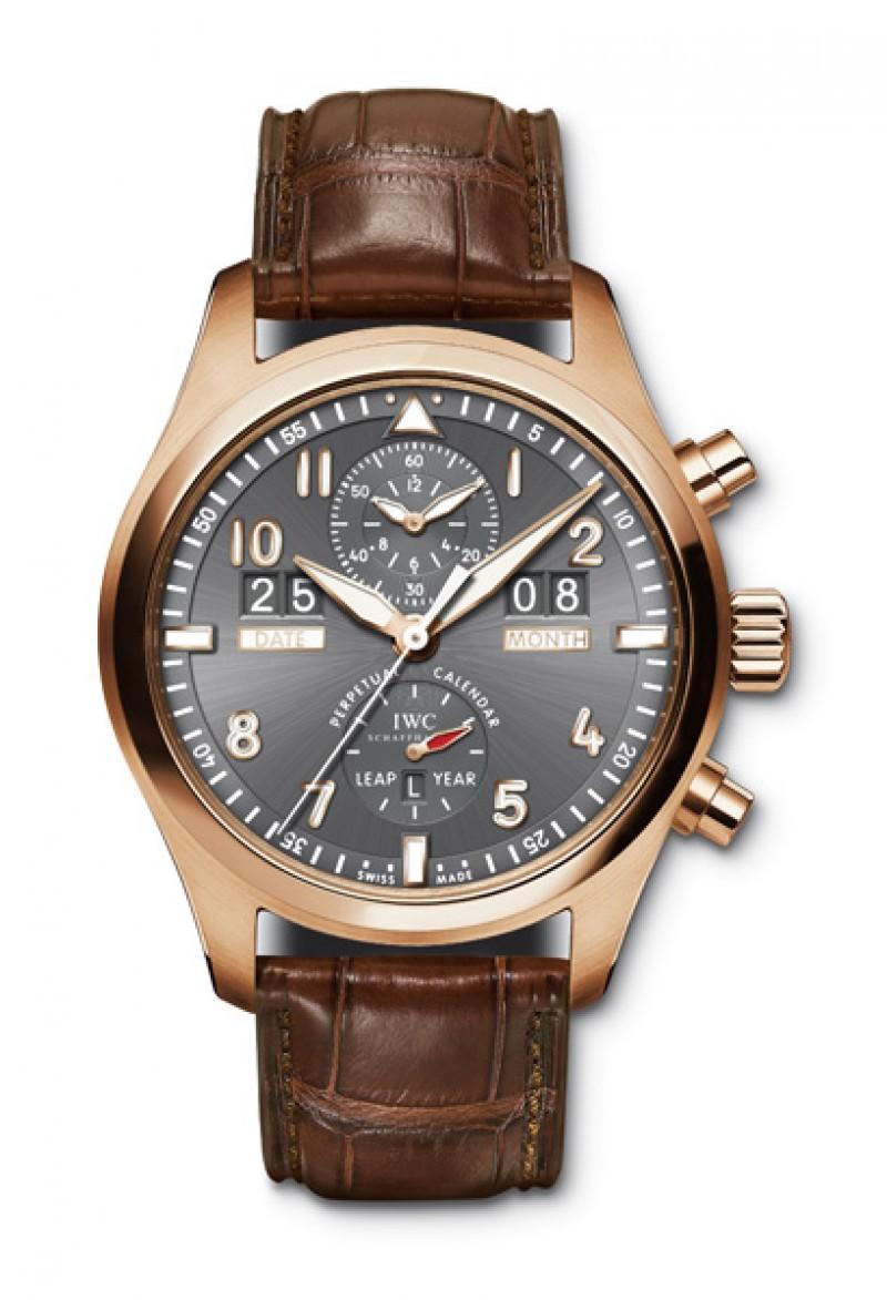 Fake IWC Pilot's Spitfire Perpetual Calendar Mens Watch IW379105