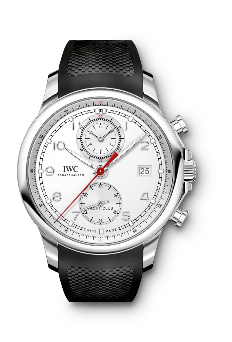 Fake IWC Portugieser Yacht Club White Dial Black Automatic Mens Watch IW390502