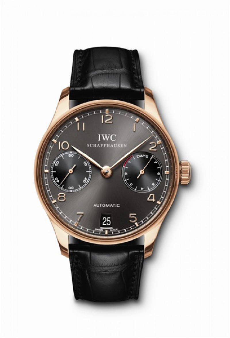 Fake IWC Portuguese Automatic Edition Dragon Year Rose Gold Mens Watch IW500125