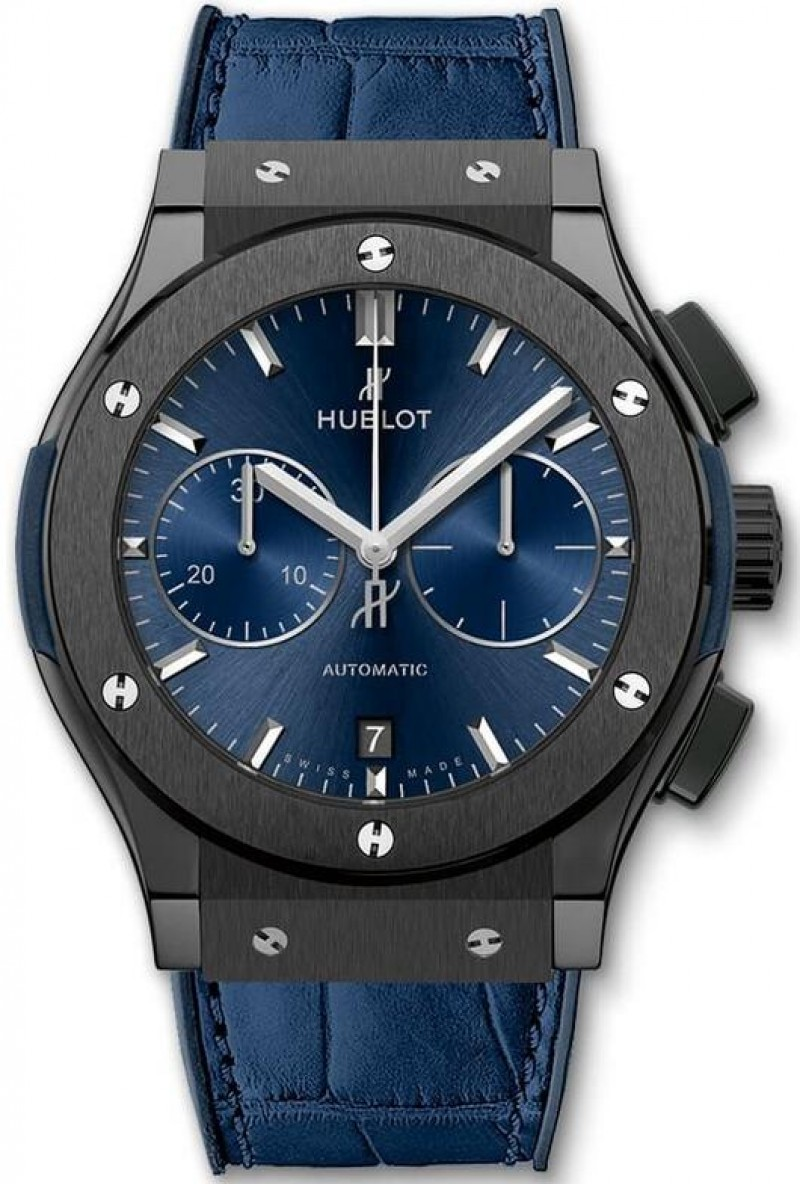 Fake Hublot Classic Fusion Ceramic Blue Chronograph 45mm 521.CM.7170.LR