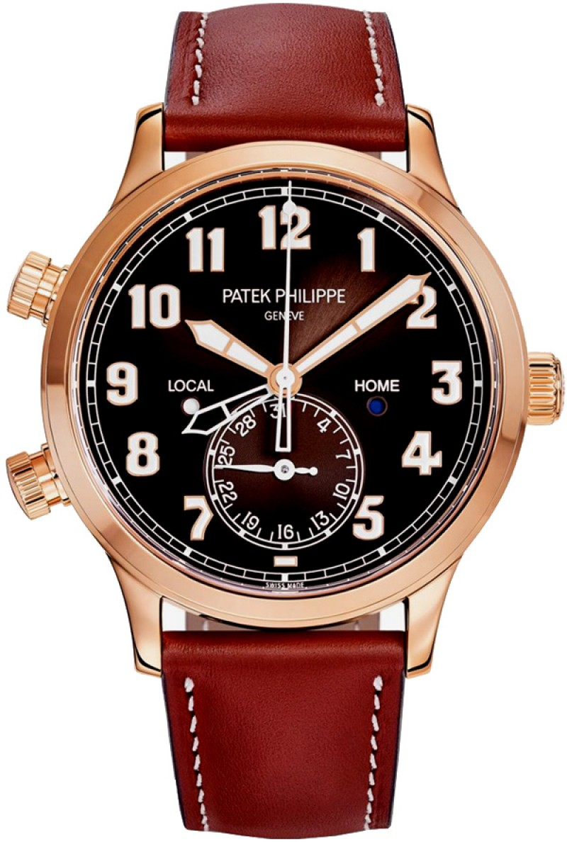 Replica Patek Philippe Calatrava Pilot Travel Time Mens Watch 5524R-001