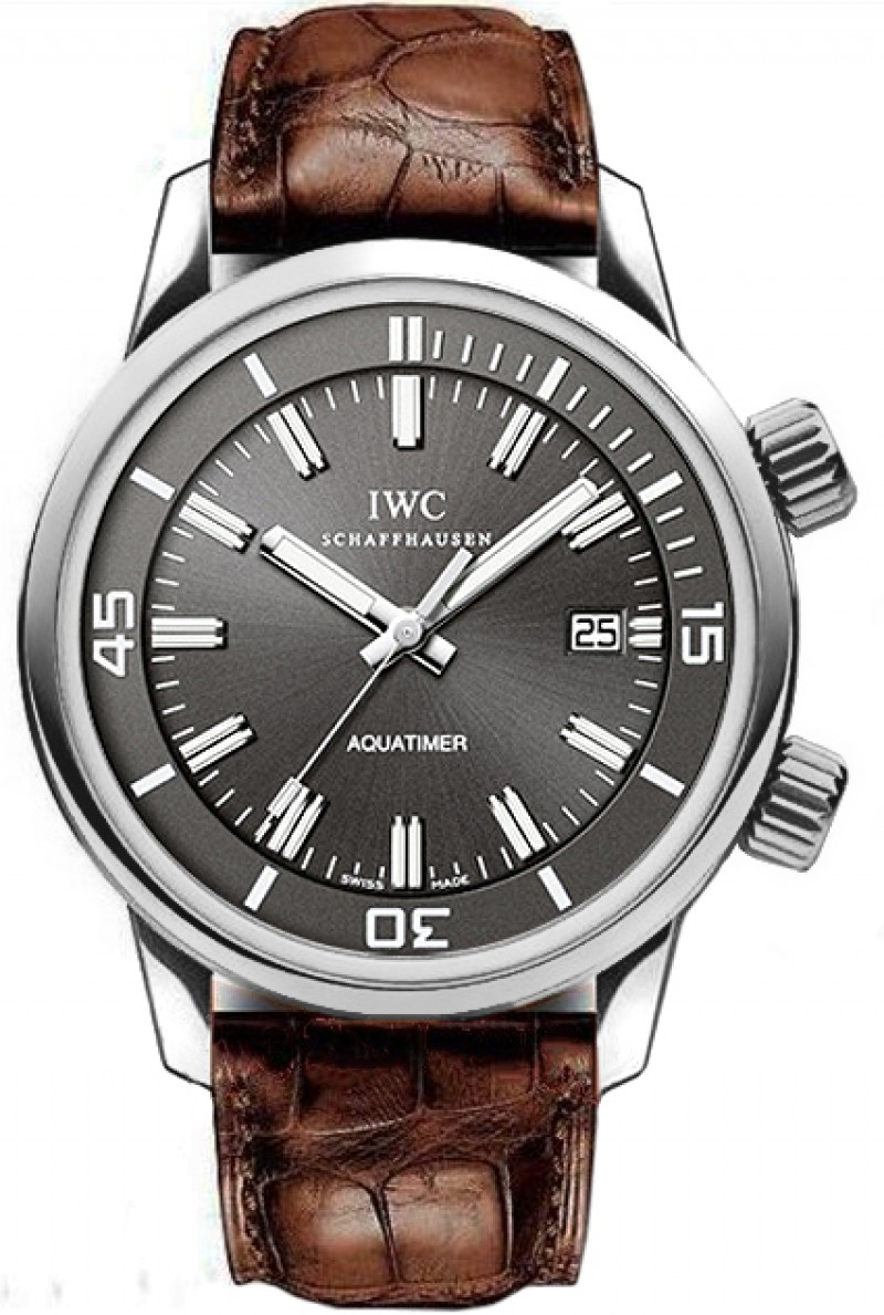 Fake IWC Vintage Aquatimer Slate Grey Dial Mens Watch IW323104