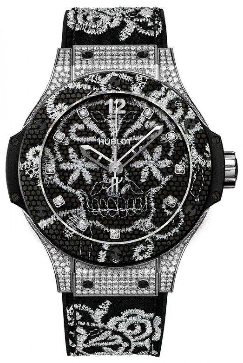 Fake Hublot Big Bang Broderie Stainless Steel Watch 343.SX.6570.NR.0804