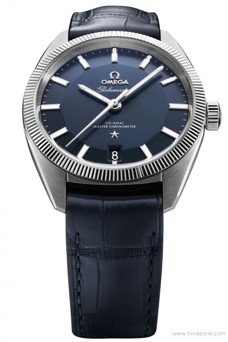Fake Omega Globemaster blue pie pan dial 130.33.39.21.03.001