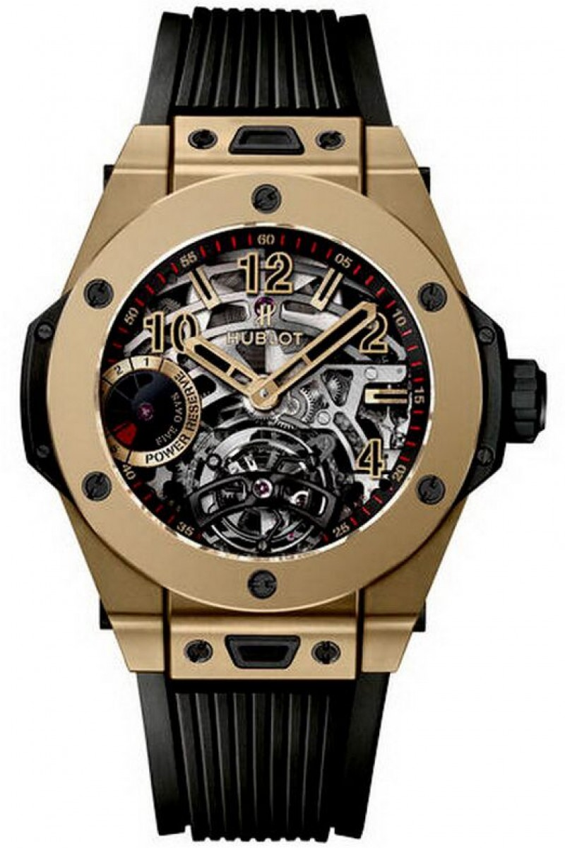 Fake Hublot Big Bang Tourbillon 5-Day Power Reserve Full Magic Gold Watch 405.MX.0138.RX