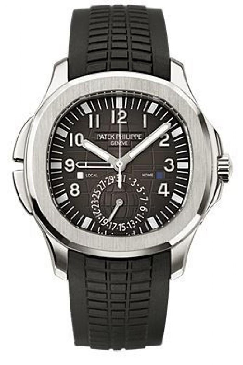Replica Patek Philippe Aquanaut Dual Time Automatic Mens Watch 5164A-001