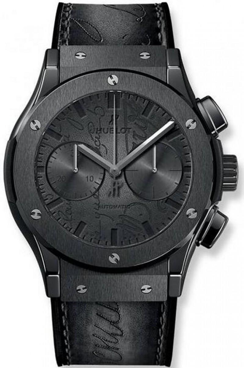 Fake Hublot Classic Fusion Chronograph Berluti Scritto All Black 45mm 521.CM.0500.VR.BER17