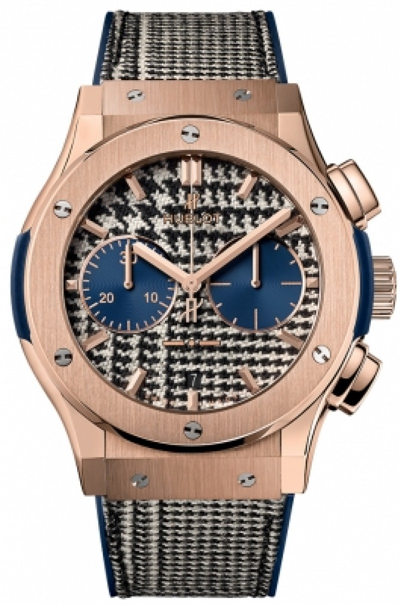 Fake Hublot Classic Fusion Chronograph Italia Independent Pieds-De-Poule 521.OX.2704.NR.ITI17
