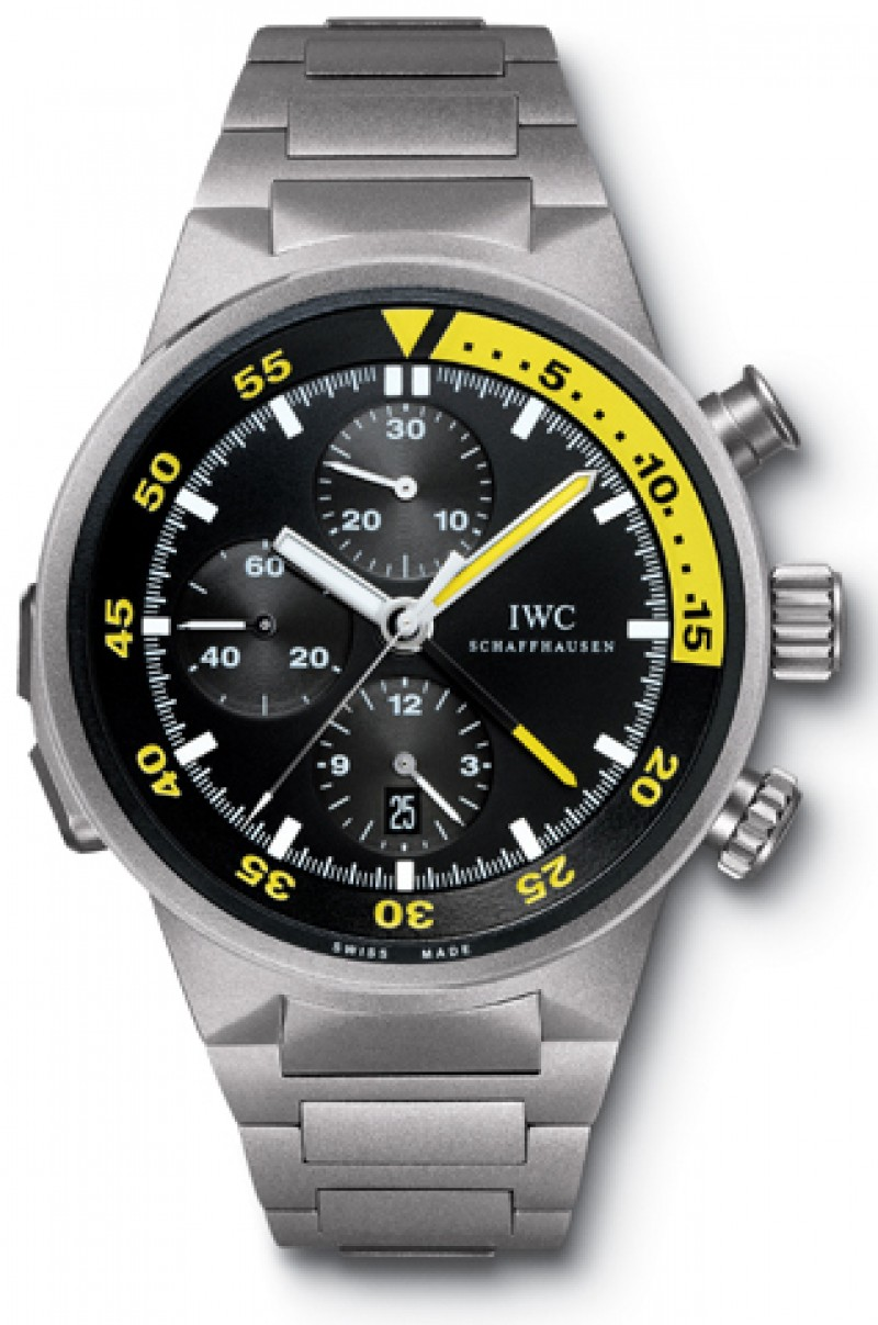 Fake IWC Aquatimer Split Minute Chrono Titanium Mens Watch IW372301