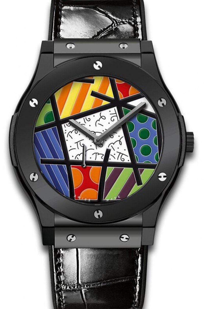 Fake Hublot Classic Fusion Enamel Britto Ceramic Watch 515.CS.0910.LR