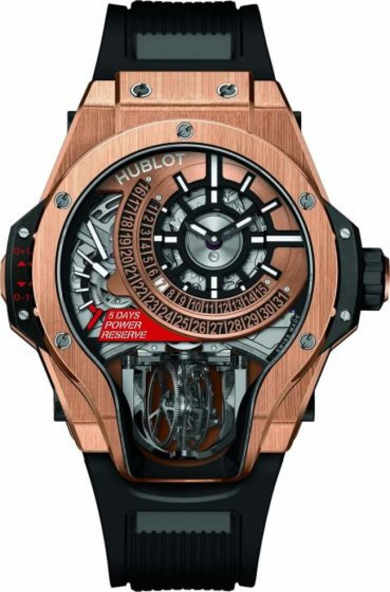 Fake Hublot MP-09 Tourbillon Bi-Axis King Gold 909.OX.1120.RX