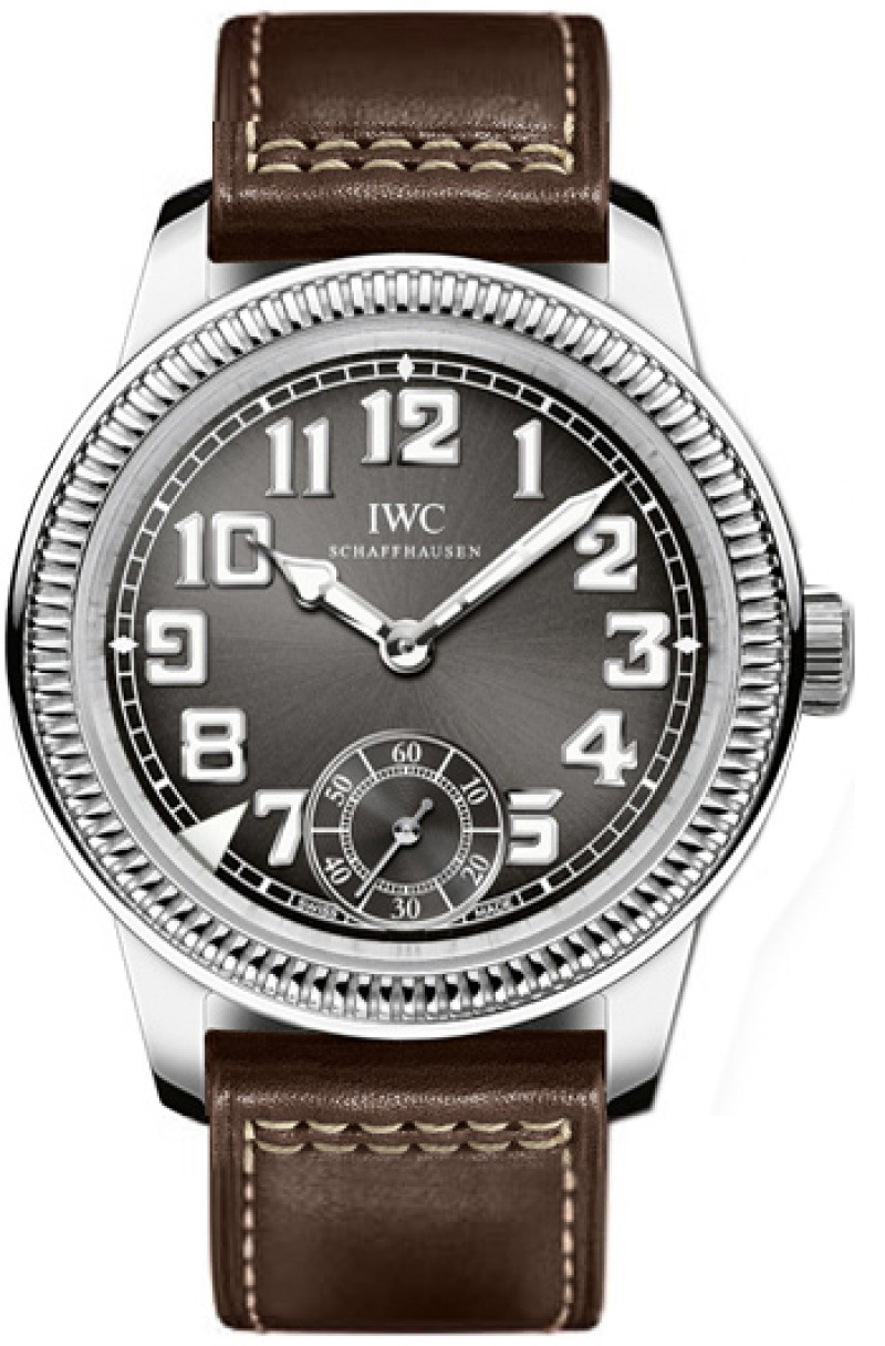 Fake IWC Vintage Pilot Grey Dial Mens Watch IW325404