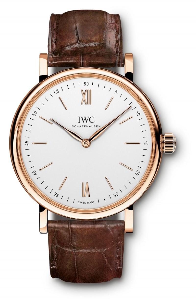 Fake IWC Portofino Silver Dial 18K Rose Gold Mens Watch 5111-02