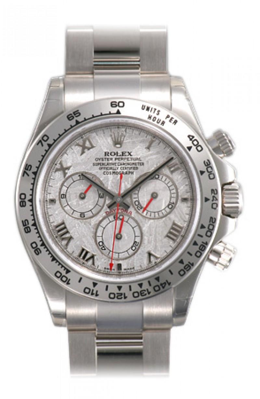 Fake Rolex Daytona Meteorite Roman Dial Mens Watch 116509MTAO