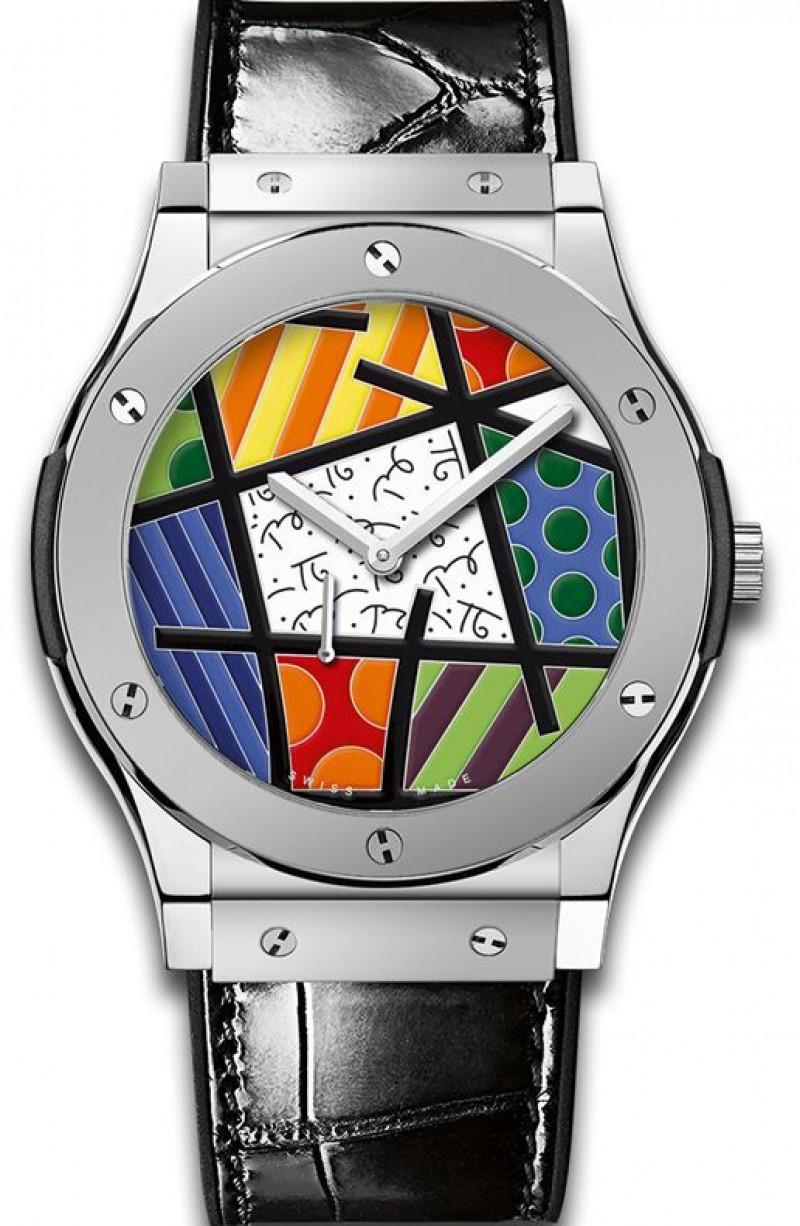 Fake Hublot Classic Fusion Enamel Britto Ceramic Watch 515.TS.0910.LR