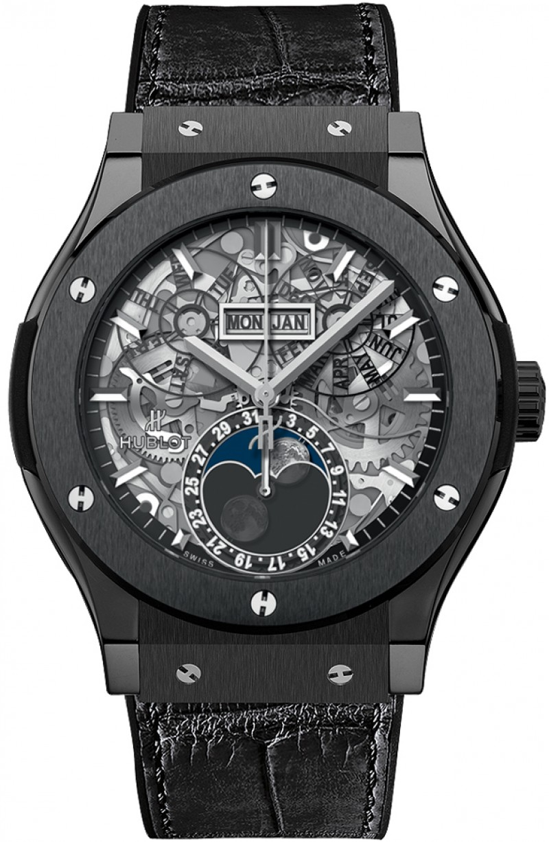 Replica Hublot Classic Fusion Aerofusion Moonphase Black Magic 517.CX.0170.LR