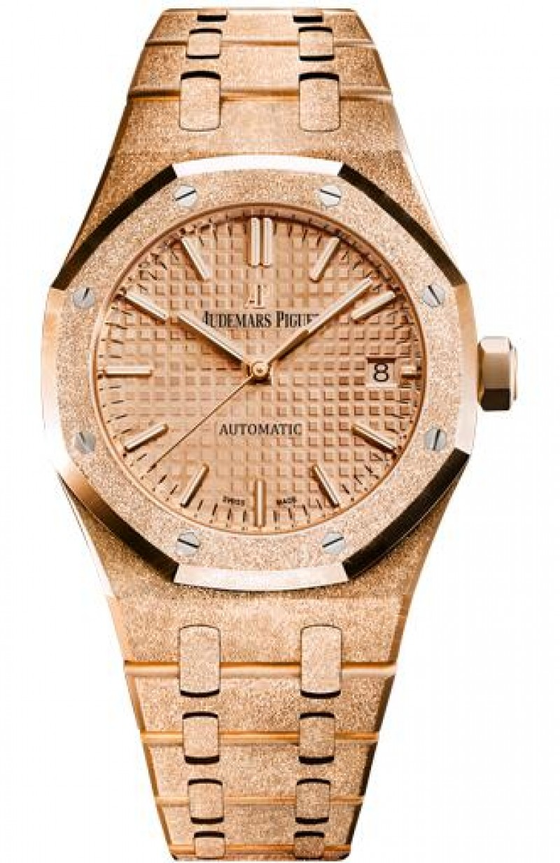 Fake Audemars Piguet Royal Oak Frosted Gold Selfwinding 15454OR.GG.1259OR.03