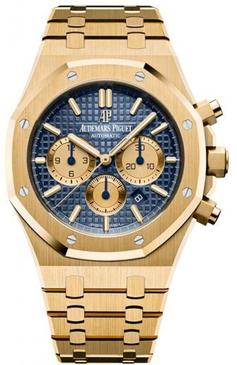 Fake Audemars Piguet Royal Oak Chronograph 41 Yellow Gold 26331BA.OO.1220BA.01
