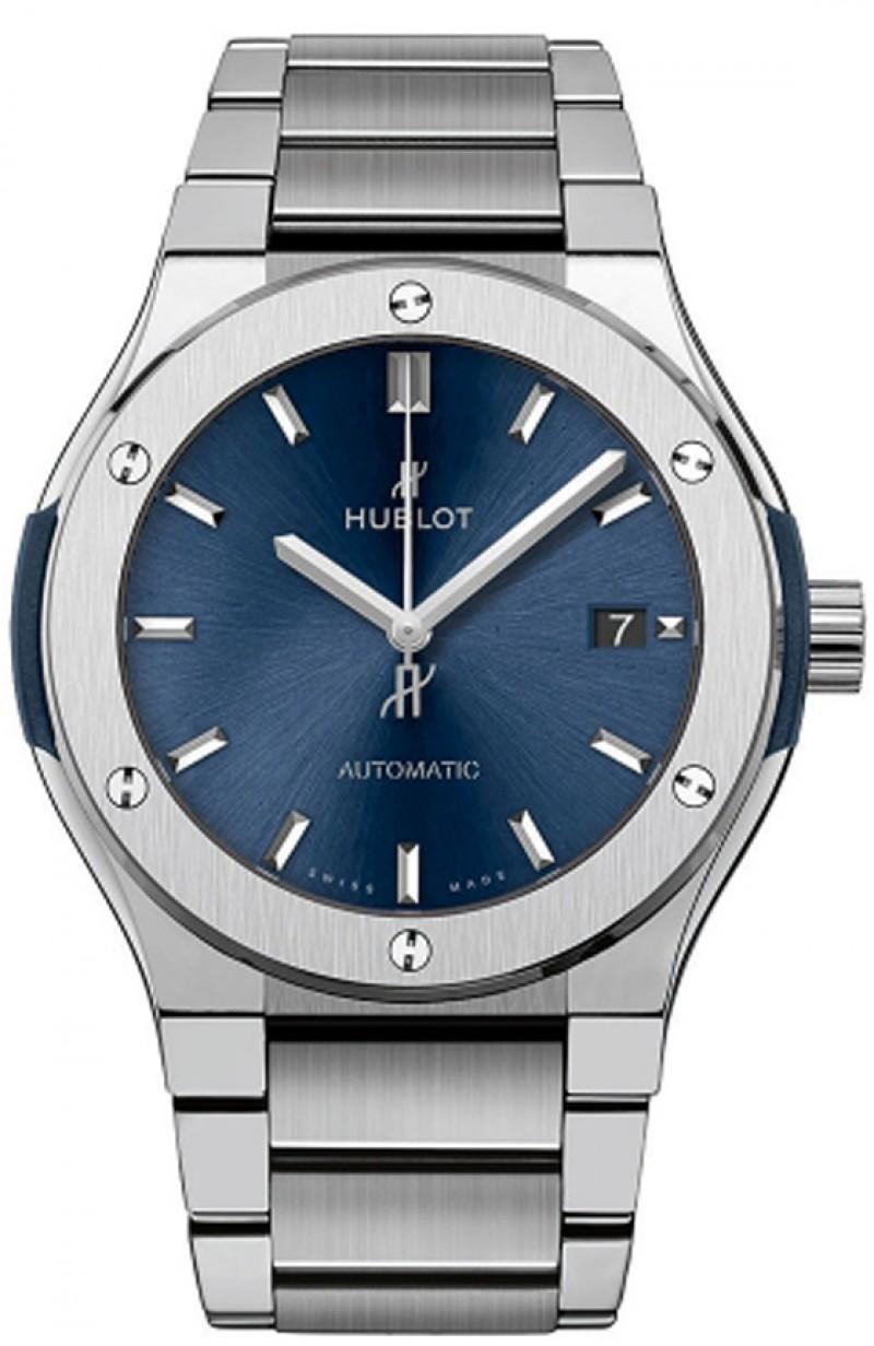 Fake Hublot Classic Fusion Blue Titanium Bracelet 45mm 510.NX.7170.NX