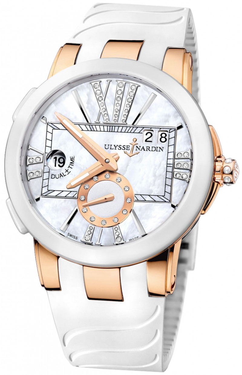 Fake Ulysse Nardin Executive Dual Time Automatic Ladies Watch 246-10-3-391