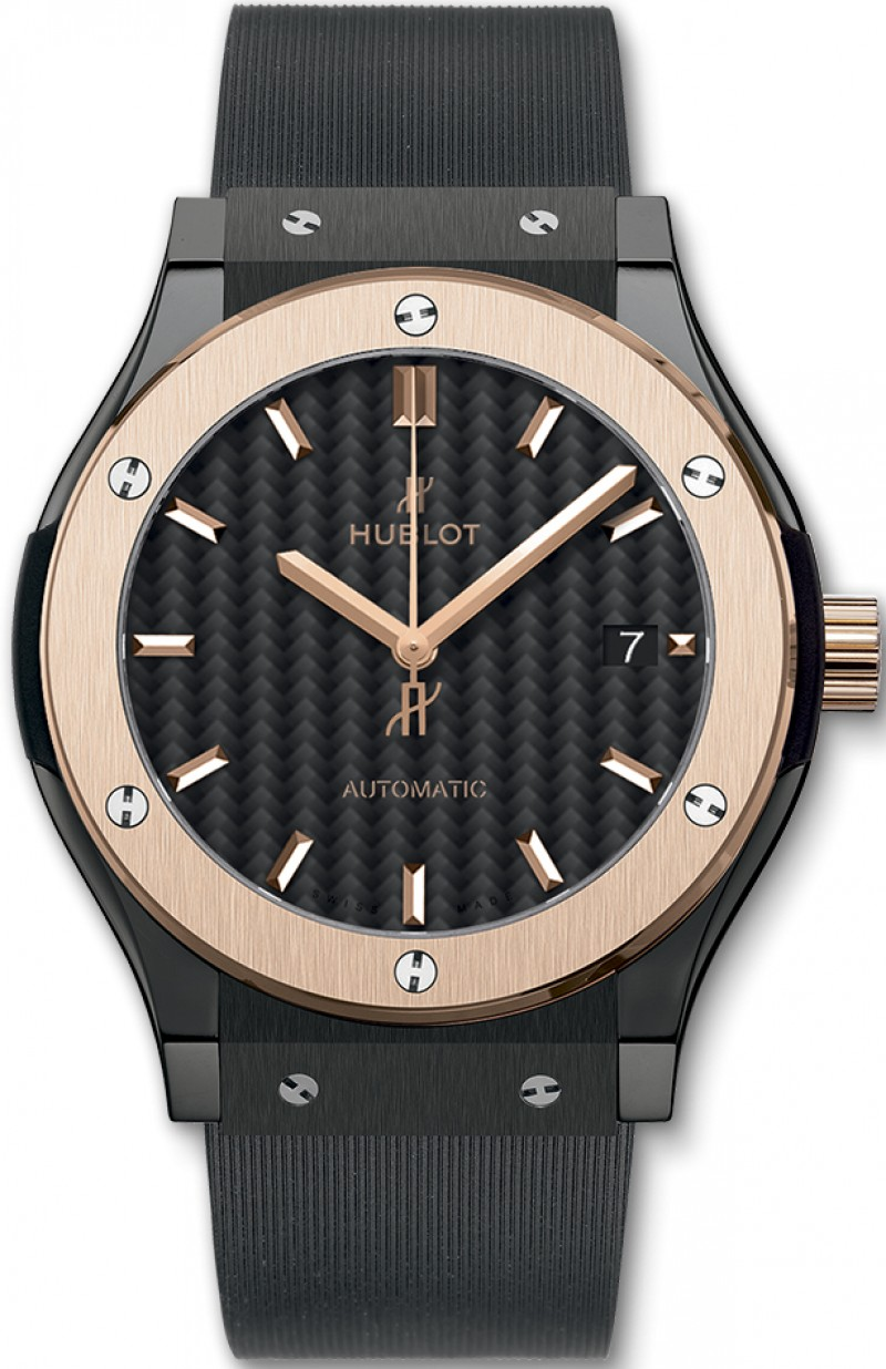 Fake Hublot Classic Fusion Ceramic King Gold 42mm Mens Watch 511.CO.1781.RX